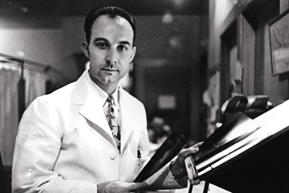 A young Ignacio Ponseti is pictured at the UI in 1943. The orthopedic surgeon had developed his nonsurgical method for treating clubfoot by the 1950s, but it would be decades later before the rest of the medical world embraced it.