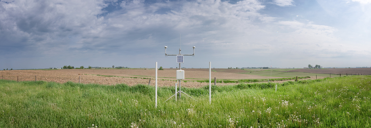 A weather station on Maas farm