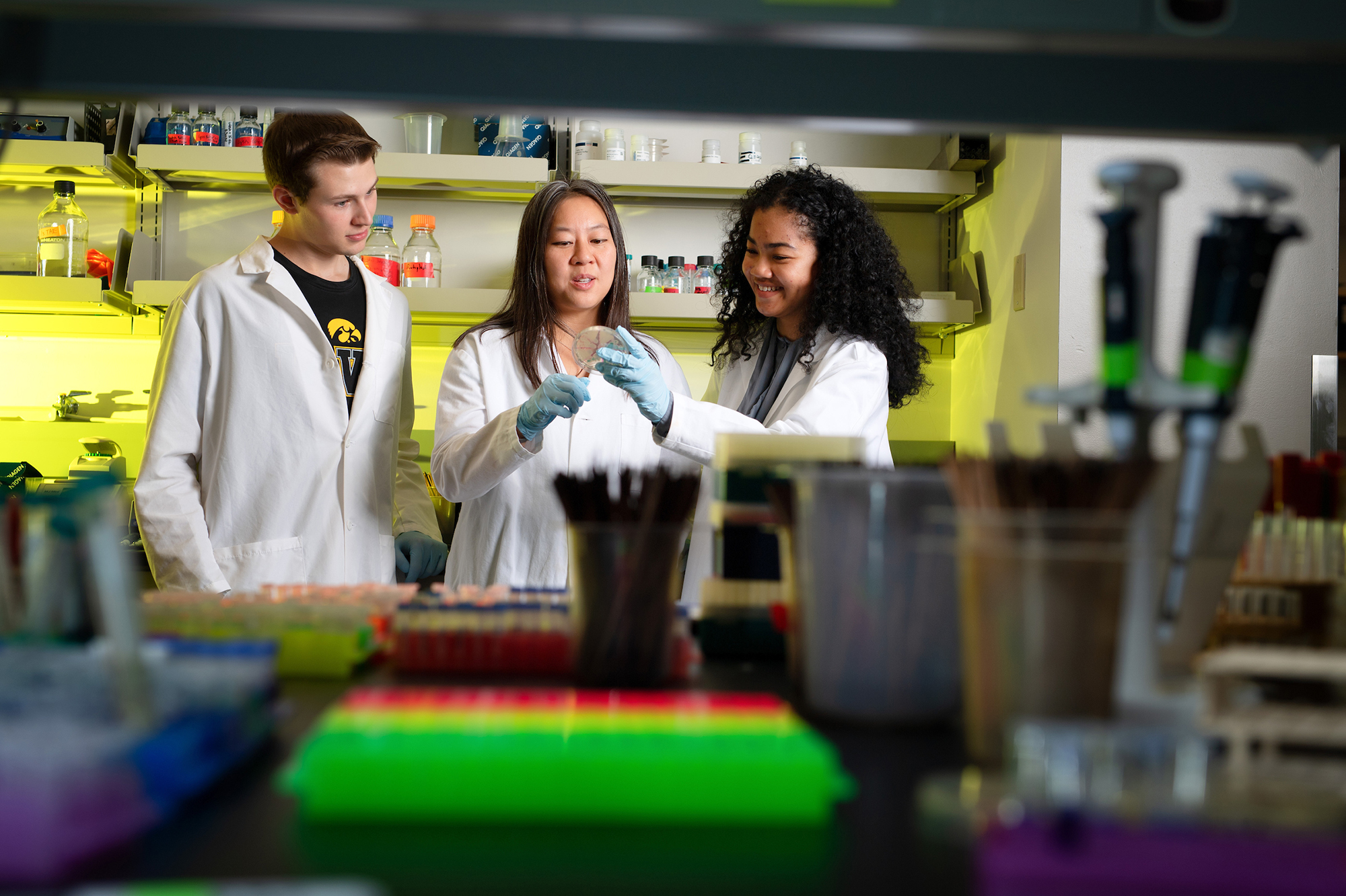 University of Iowa Carver College of Medicine microbiology lab
