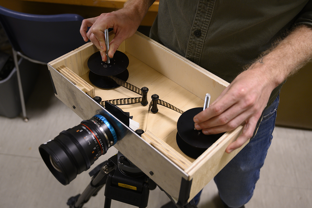 the custom-built camera used by michael gibisser to make Slow Volumes