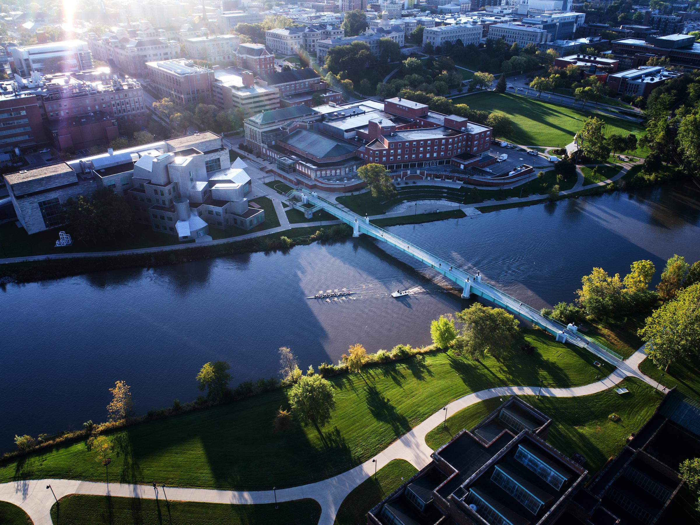 Aerial view of University of Iowa campus