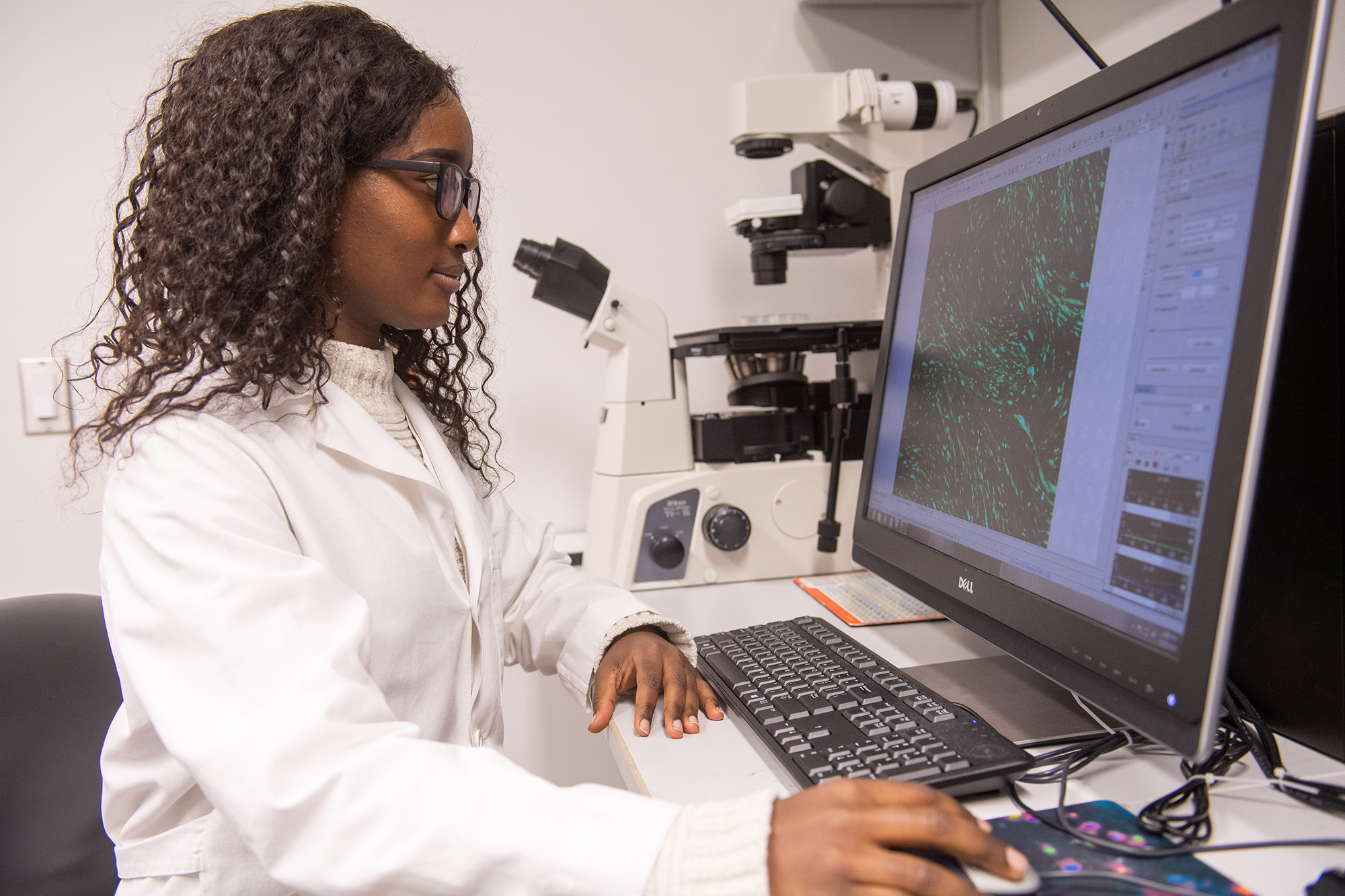 University of Iowa undergraduate researcher Margaret Mungai