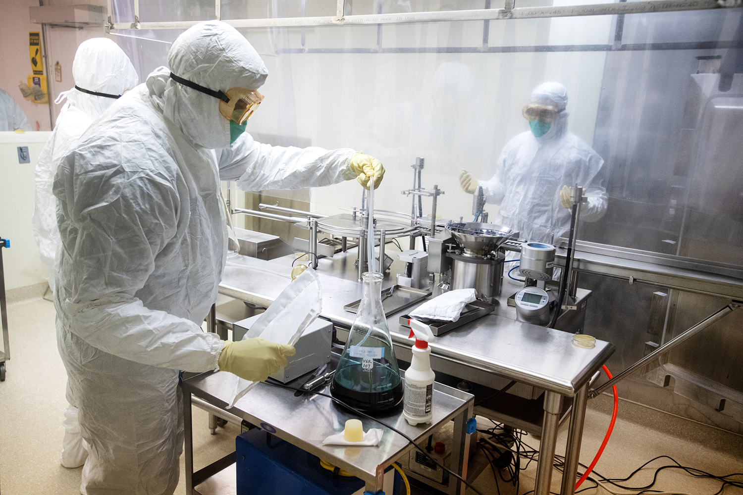 UI Pharmaceuticals personnel working in the building
