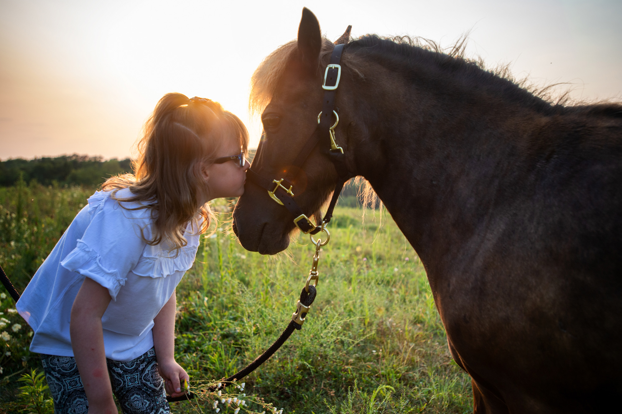 Nevaeh Brock with her horse