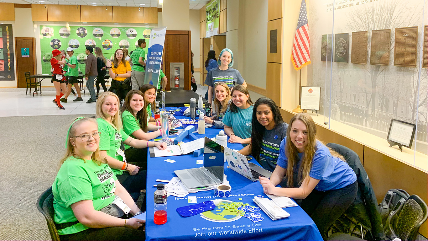 Be the Match on Campus UI at Dance Marathon's Big Event in February 2020