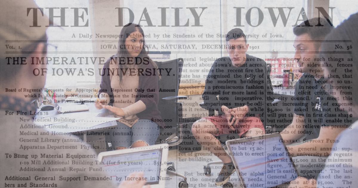 Daily Iowan budget meeting photo illustration