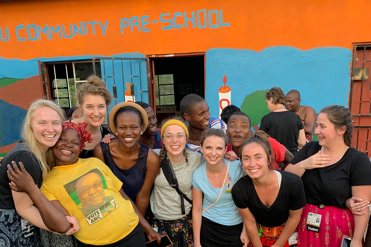 university of iowa graduate megan lough during a study abroad experience in eswatini