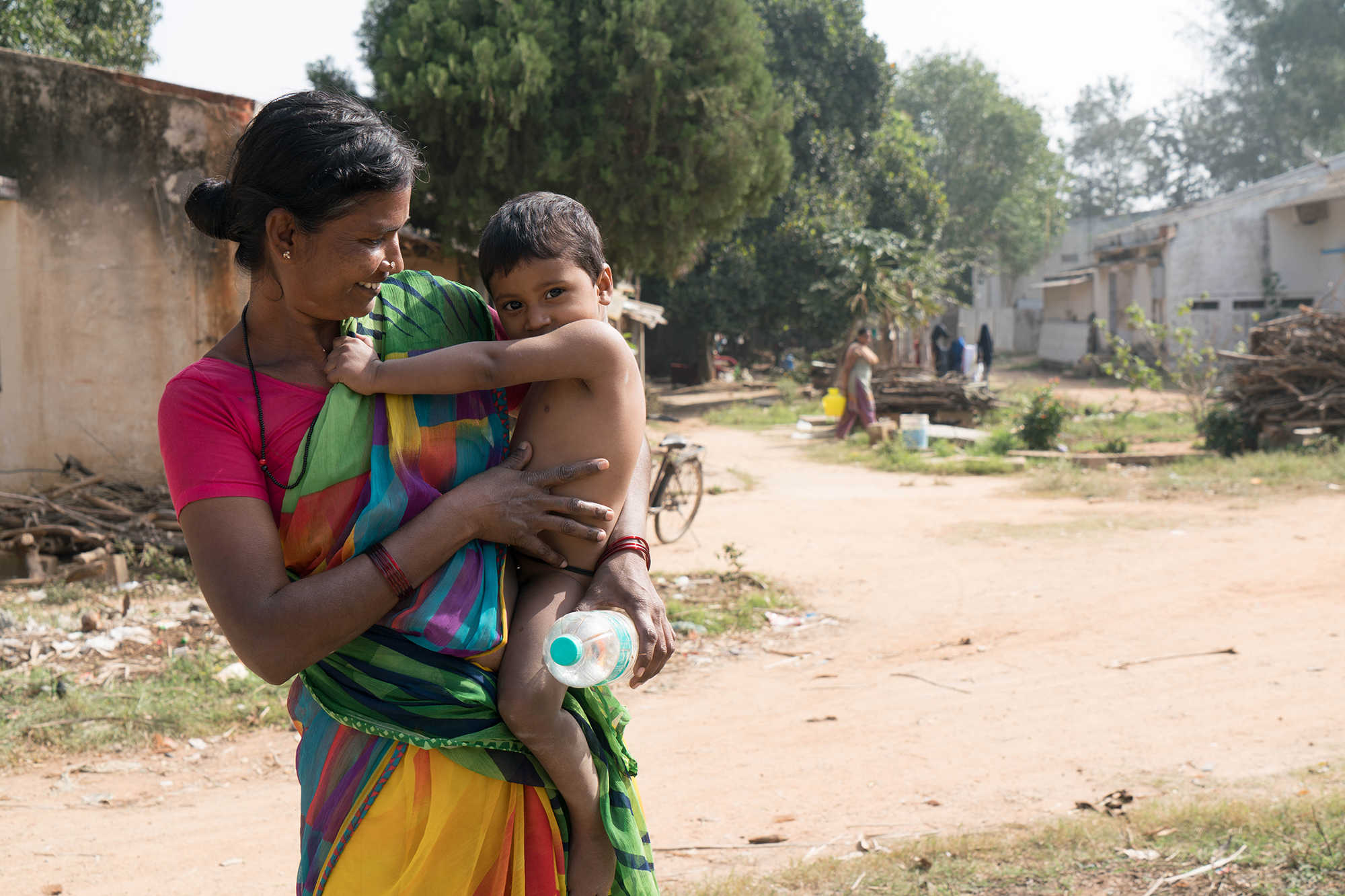 woman and child in india
