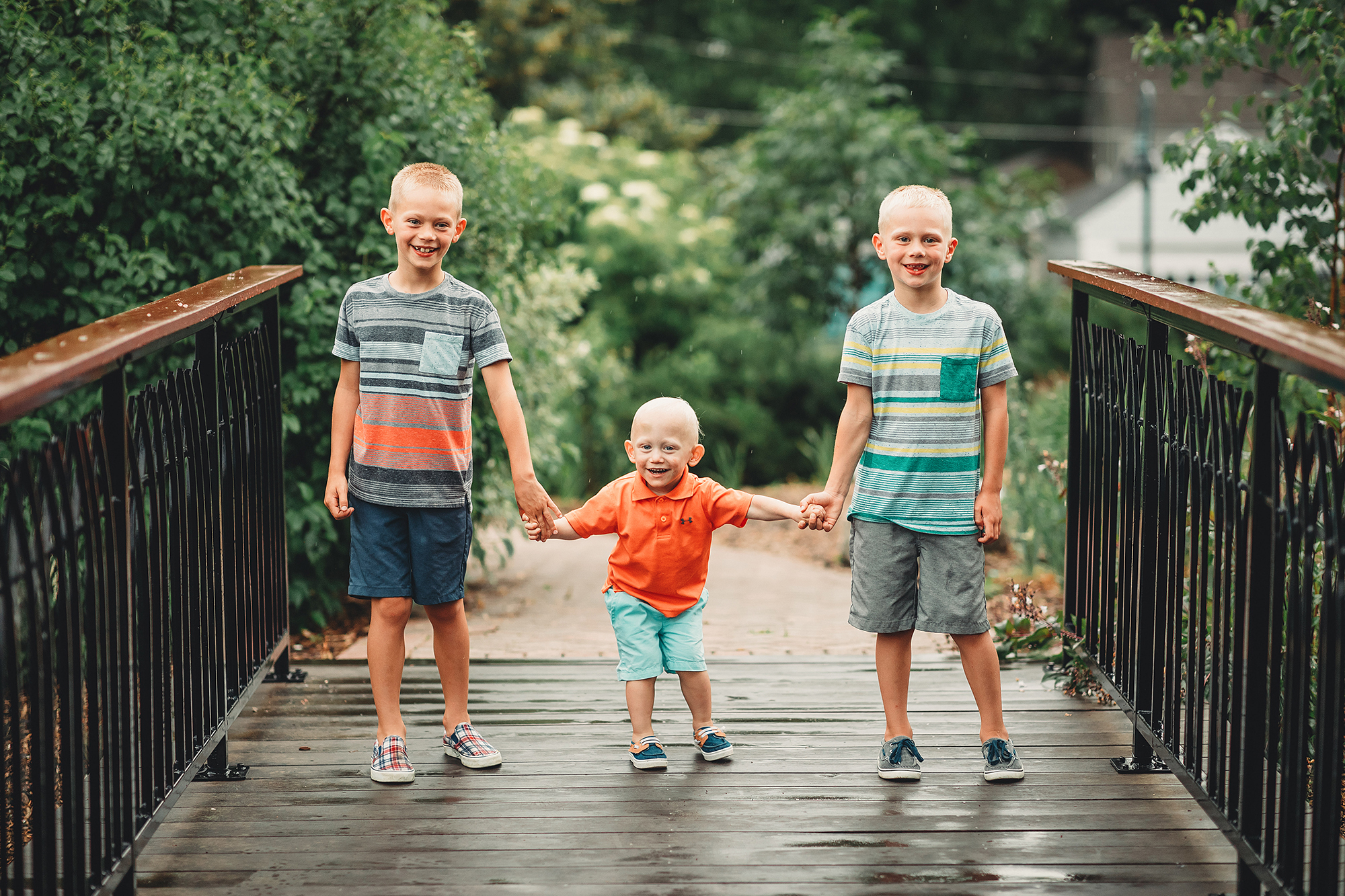 Knox Tysdahl with his older brothers