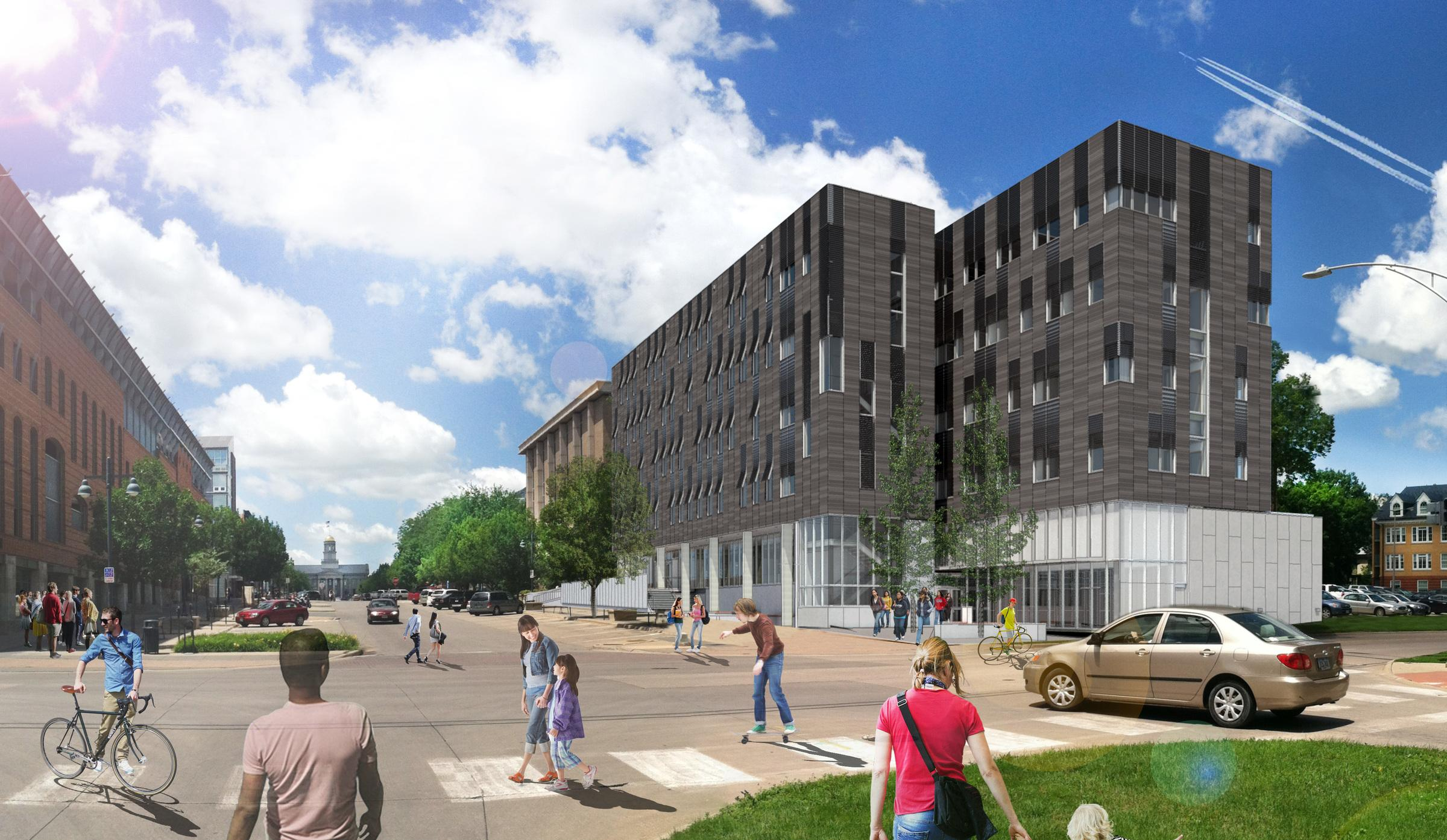 Architectural rendering of new Psychological and Brain Sciences building