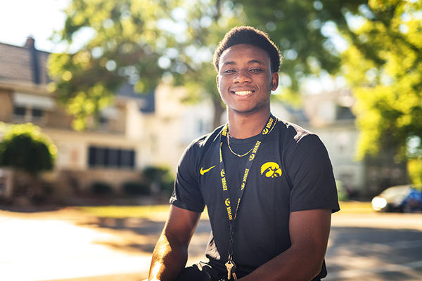 Kaleba Jack, University of Iowa undergraduate student