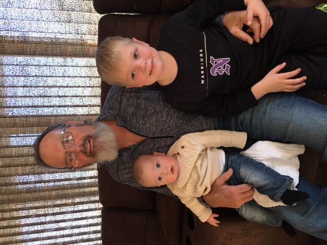Dan Berns with two of his grandchildren