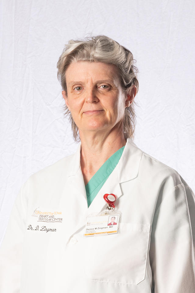 Denice Hodgson-Zingman, cardiac electrophysiologist and director of electrophysiology, at University of Iowa Hospitals & Clincs