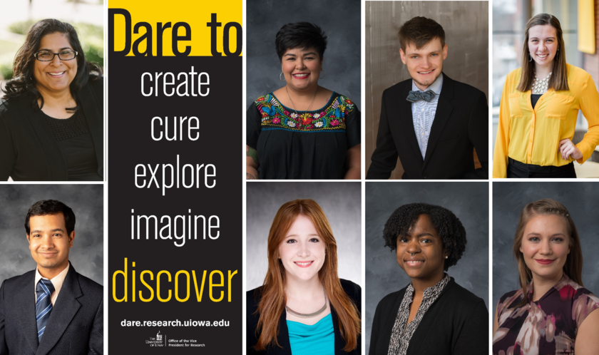 Portraits of participants in the 2020 Dare to Discover campaign