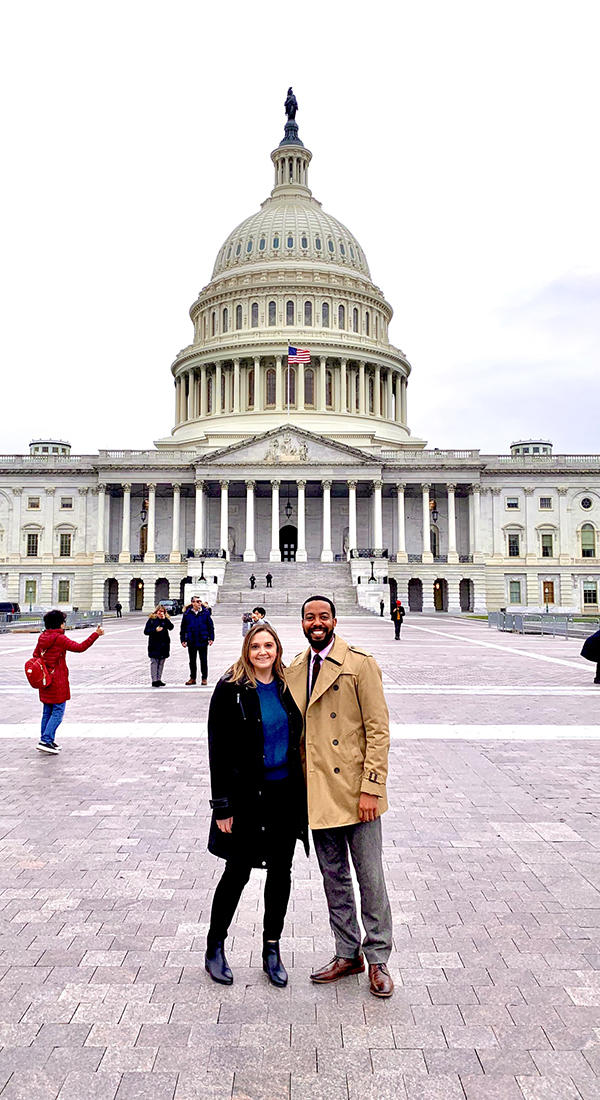 University of Iowa law students Brittany Martin and Justin McCorvey in Washington DC