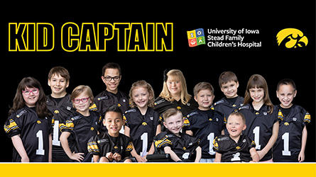 the 2019 kid captains, in a group photo