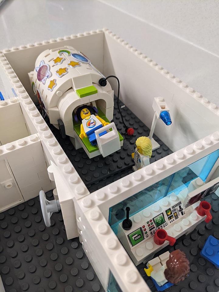 a lego model of an mri machine