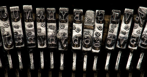 Typewriter key detail