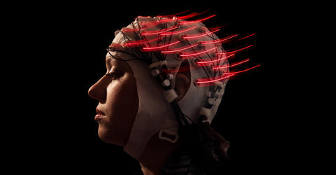 Measuring brain waves photo