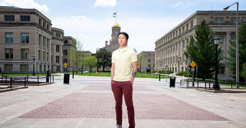 University of Iowa student Gordon Louie