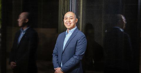 University of Iowa student Laurence Chan