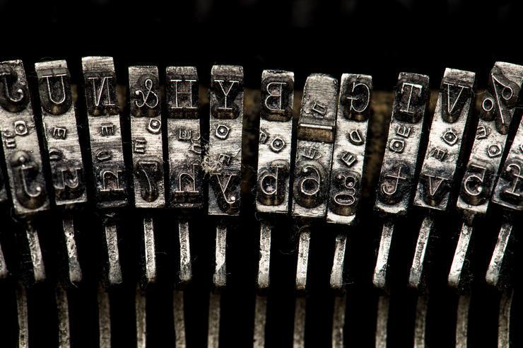 Typewriter key detail