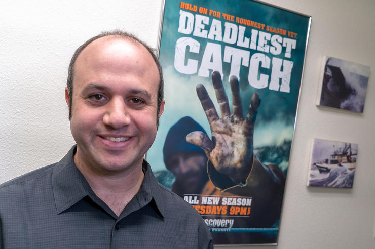 university of iowa alumnus alexander rubinow has won an emmy for his work on the show Deadliest Catch