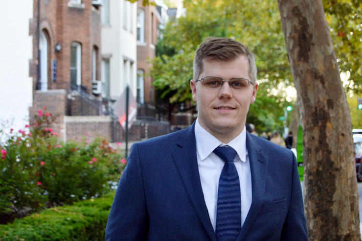 University of Iowa alumnus Brian Lein is quickly moving up the career ladder at the Department of Defense—becoming an audit manager for the U.S. Navy at the age of 29—thanks to his accounting education from the Tippie College of Business.