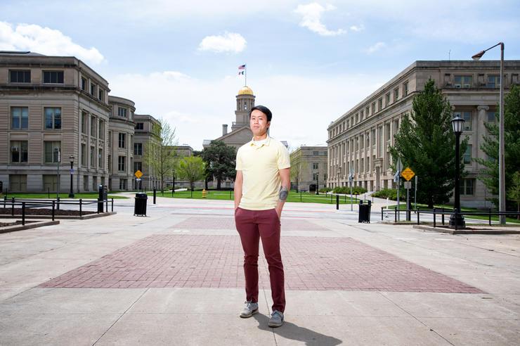 University of Iowa student Gordon Louie