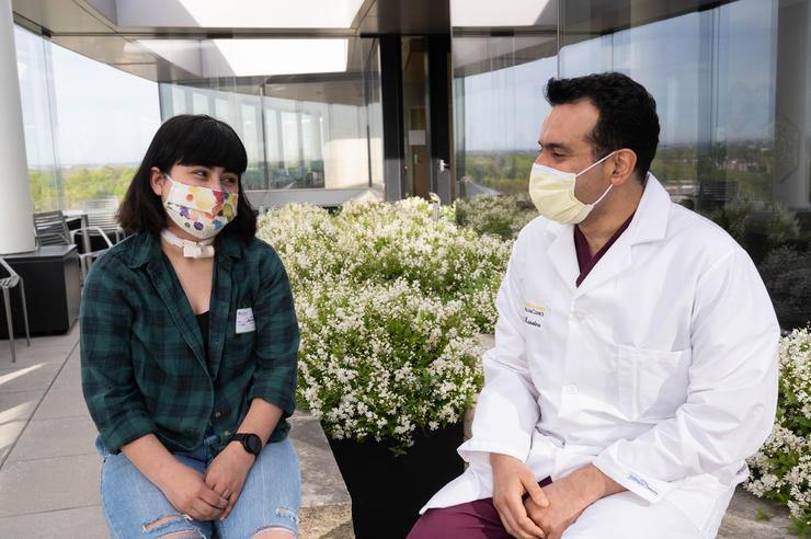 Iowa teen Nina Alvarez with otolaryngologist Sohit Kanotra