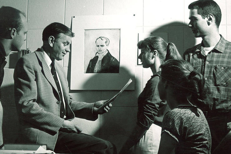 Paul Engle teaching