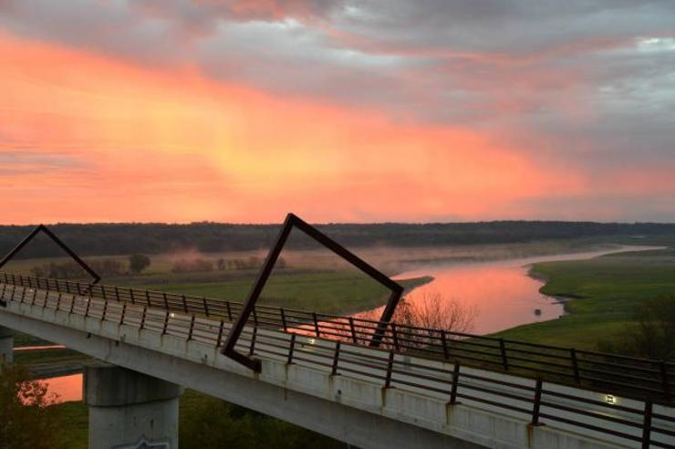 University of Iowa marketing students are helping three counties in north central Iowa brand the outdoor recreational activities in their area. Among the attractions is the High Trestle Bridge, shown here. Contributed photo.