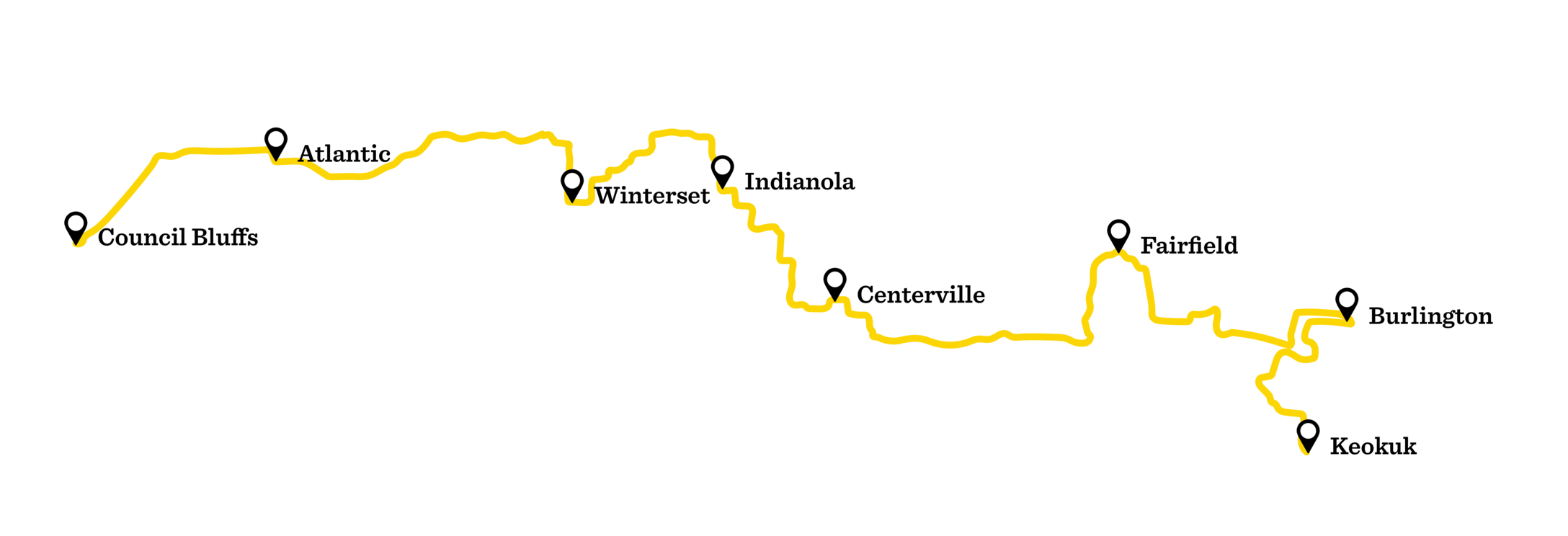 RAGBRAI route of 2019
