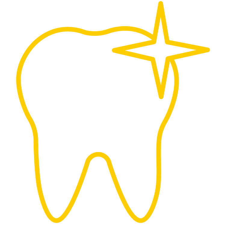 sparkling tooth icon
