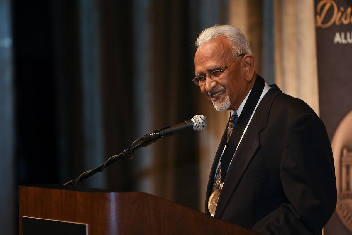 v.c. patel speaking at awards ceremony