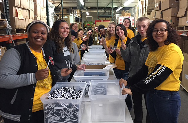 University of Iowa students participate in an Alternative Spring Break project in Buffalo