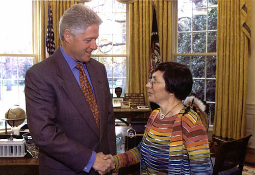 Bill Clinton with Nancy Andreasen