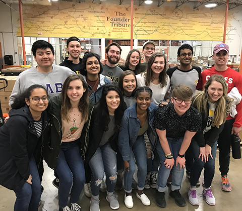 University of Iowa students participate in an Alternative Spring Break project in Dallas
