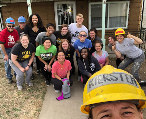 University of Iowa students participate in an Alternative Spring Break project in Denver