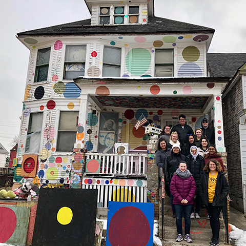 University of Iowa students participate in an Alternative Spring Break project in Detroit