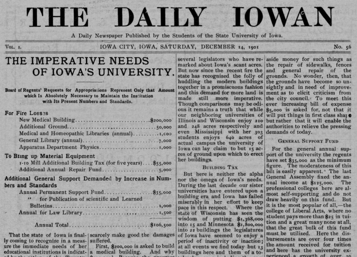 "1901 ""Daily Iowan"""